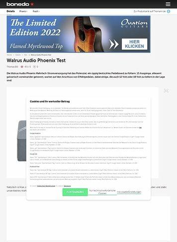 Bonedo.de Walrus Audio Phoenix
