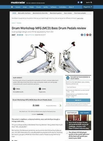 MusicRadar.com Drum Workshop MFG (MCD) Bass Drum Pedals
