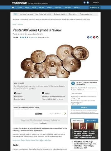 MusicRadar.com Paiste 900 Series Cymbals