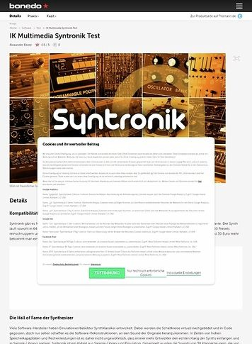 Bonedo.de IK Multimedia Syntronik