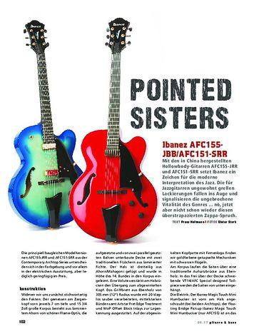Gitarre & Bass Ibanez AFC155-JBB / AFC151-SRR