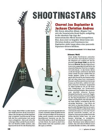 Gitarre & Bass Charvel Joe Duplantier & Jackson Christian Andreu