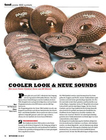 Sticks Paiste 900 Cymbals