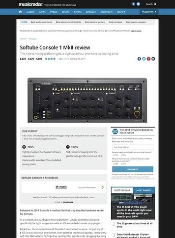 MusicRadar.com Softube Console 1 MkII