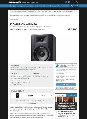MusicRadar.com M-Audio BX5 D3