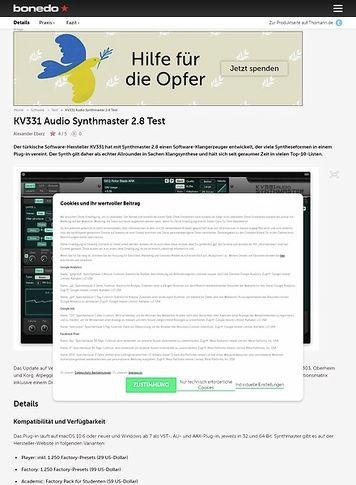 Bonedo.de KV331 Audio Synthmaster 2.8