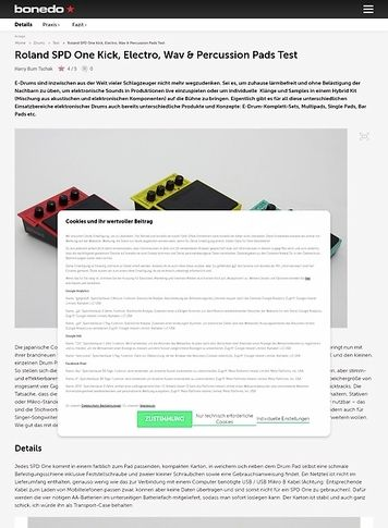 Bonedo.de Roland SPD One Kick, Electro, Wav & Percussion Pads