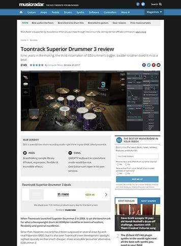 MusicRadar.com Toontrack Superior Drummer 3