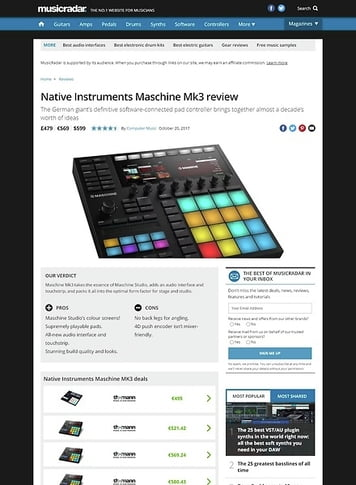 MusicRadar.com Native Instruments Maschine Mk3