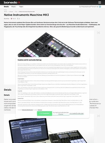 Bonedo.de Native Instruments Maschine MK3