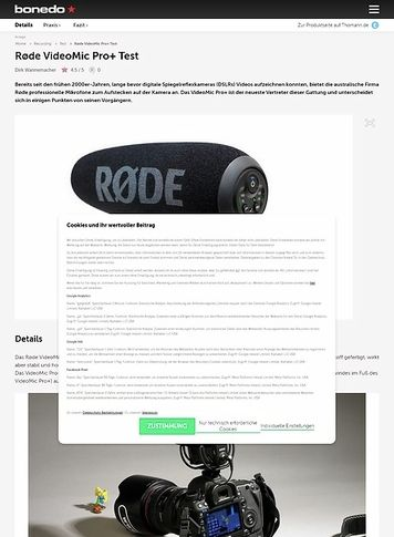 Bonedo.de Røde VideoMic Pro+