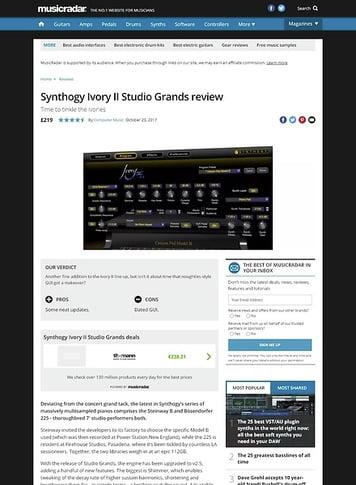 MusicRadar.com Synthogy Ivory II Studio Grands