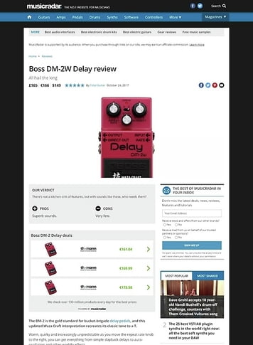 MusicRadar.com Boss DM-2W Delay