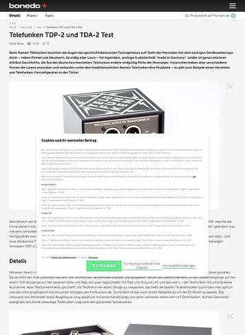 Bonedo.de Telefunken TDP-2 und TDA-2