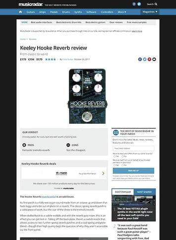 MusicRadar.com Keeley Hooke Reverb
