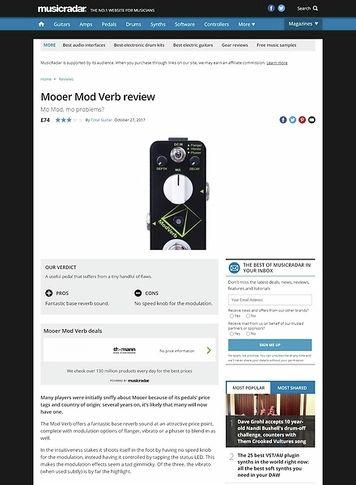 MusicRadar.com Mooer Mod Verb