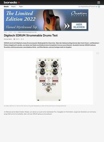 Bonedo.de Digitech SDRUM Strummable Drums