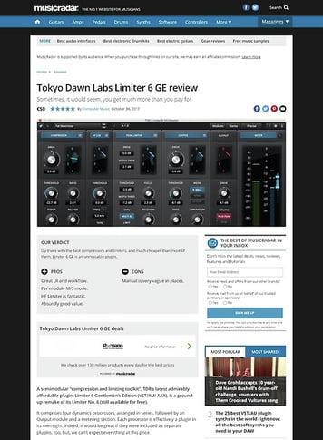 MusicRadar.com Tokyo Dawn Labs Limiter 6 GE