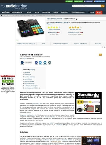 Audiofanzine.com Native Instruments Maschine mk3