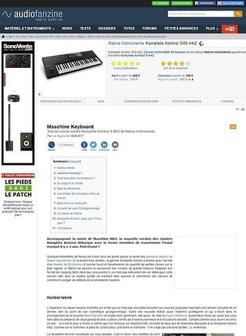 Audiofanzine.com Native Instruments Komplete Kontrol S49 mk2