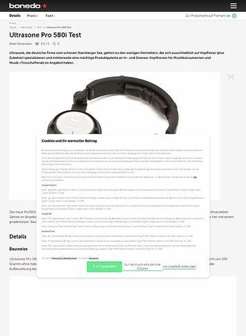 Bonedo.de Ultrasone Pro 580i