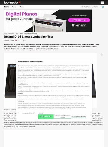Bonedo.de Roland D-05 Linear Synthesizer