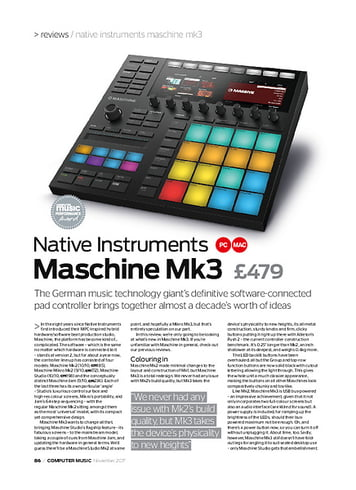 Computer Music Native Instruments Maschine Mk3