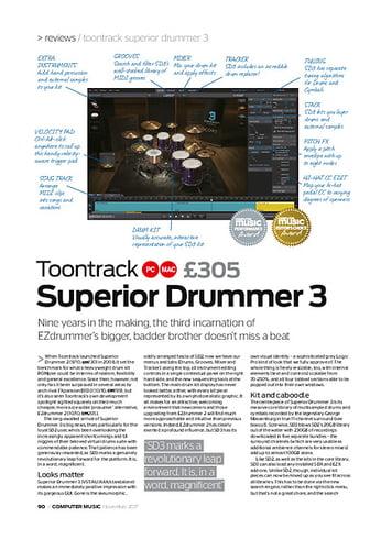 Computer Music Superior Drummer 3
