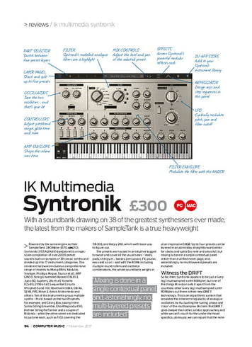 Computer Music IK Multimedia Syntronik