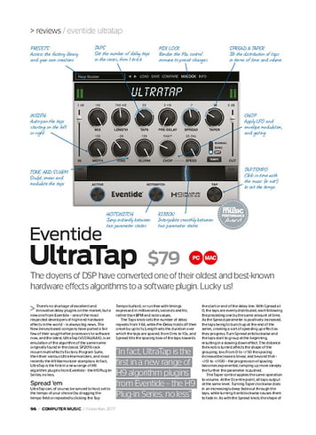 Computer Music Eventide UltraTap