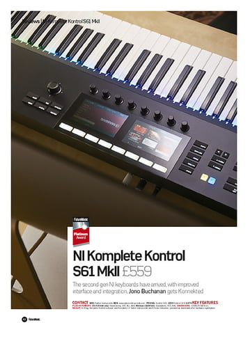 Future Music  NI Komplete Kontrol S61 MkII