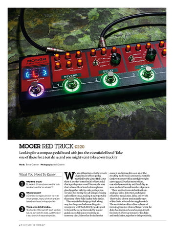 Guitarist Mooer Red Truck