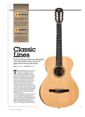 Guitarist  Taylor Academy Series 12e-N