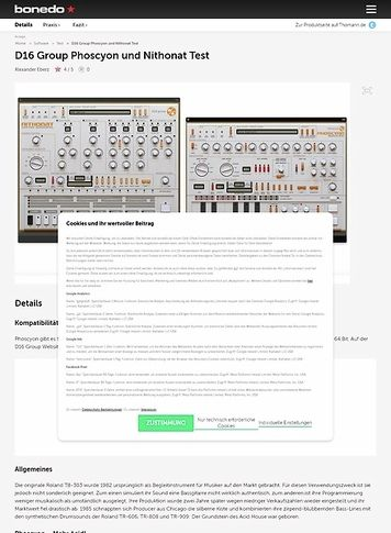 Bonedo.de D16 Group Phoscyon und Nithonat