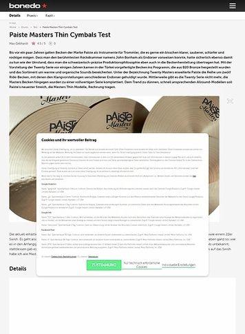 Bonedo.de Paiste Masters Thin Cymbals