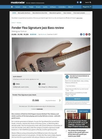MusicRadar.com Fender Flea Signature Jazz Bass