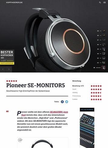 Kopfhoerer.de Pioneer SE-Monitor 5
