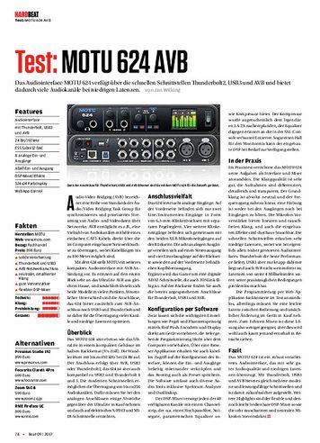 Beat MOTU 624 AVB
