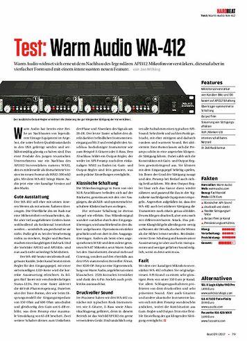 Beat Warm Audio WA-412