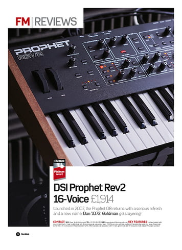 Future Music  DSI Prophet Rev2  16-Voice