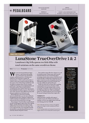 Guitarist LunaStone trueOverdrive 1 & 2