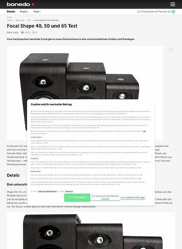 Bonedo.de Focal Shape 40, 50 und 65
