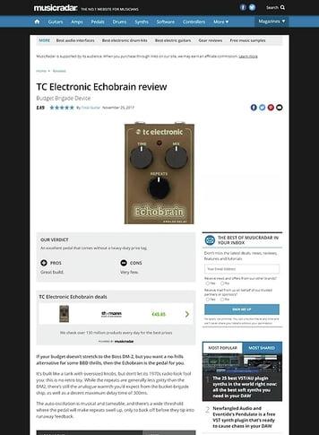 MusicRadar.com TC Electronic Echobrain
