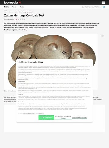 Bonedo.de Zultan Heritage Cymbals
