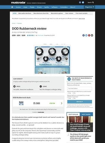 MusicRadar.com DOD Rubberneck