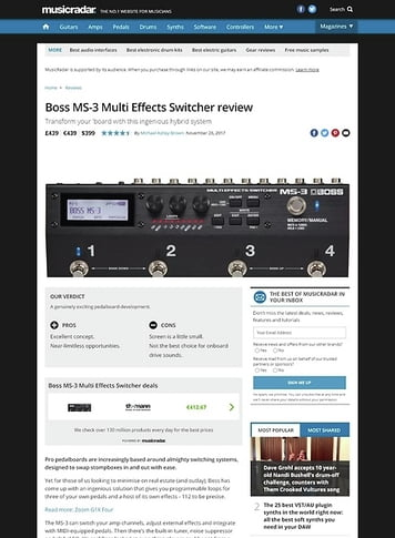 MusicRadar.com Boss MS-3 Multi Effects Switcher
