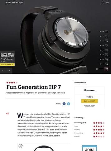 Kopfhoerer.de Fun Generation HP-7