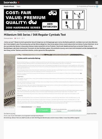 Bonedo.de Millenium Still Series Cymbals