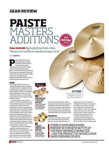 Rhythm Paiste Masters Additions