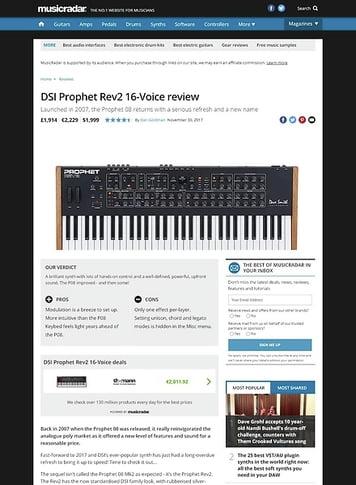 MusicRadar.com DSI Prophet Rev2 16-Voice